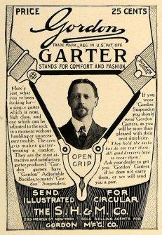 1906 ad Gordon Garter S. H. & M Company
