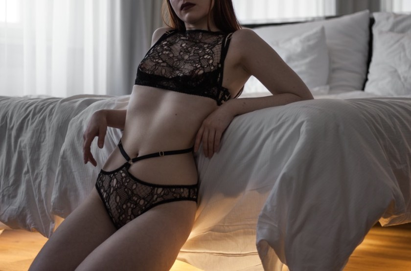 [Lingerie Wardrobe] Laura, founder of the Morning Madonna blog. Jung Set by DSTM