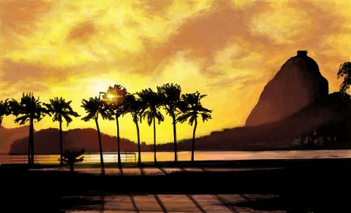 Pr do sol  Desenho de ___mari  Gartic