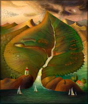 Ocean Sprouts Vladimir Kush  Desenho de amandagatah