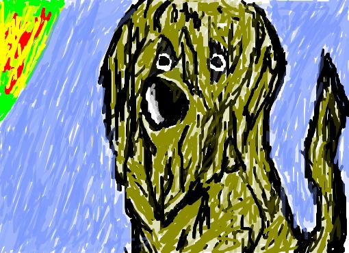 cachorro  Desenho de chapado_  Gartic
