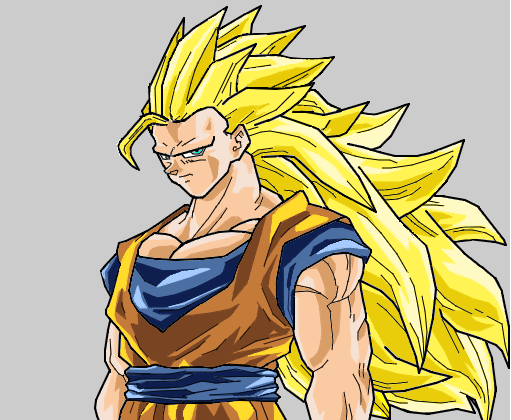 Goku  ss3  Desenho de felps_san  Gartic