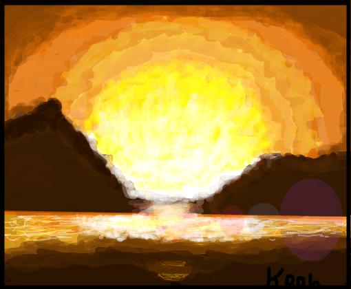 sol se pondo  Desenho de kaahb  Gartic