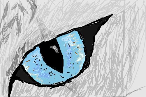 olho de gato  Desenho de kr400  Gartic