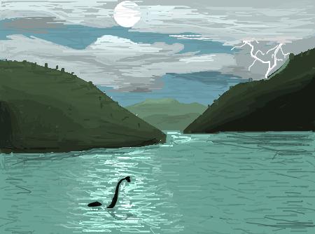 Monstro Do Lago Ness  Desenho de lanfroi  Gartic