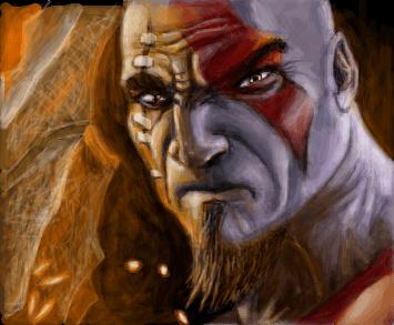 Kratos  God of War III  Desenho de leite24195  Gartic