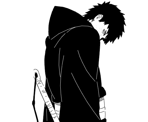 Black And White Wallpaper Quotes Uchiha Obito Desenho De Maou Sadao Gartic
