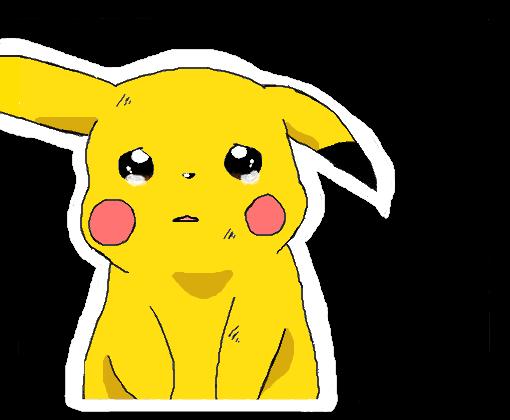 Pikachu Chorando  Desenho de pikachu1212  Gartic