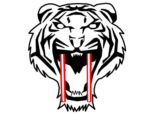 tigre dente de sabre  Desenho de tatuzinhalol  Gartic