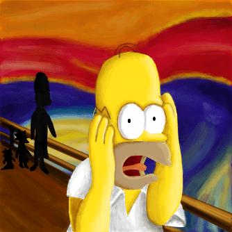 O grito de Homer Simpson JessiicaFerreira  Desenho de