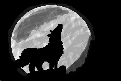 Wallpaper White Black Lobo Uivando Desenho De Wolfgirl Gartic