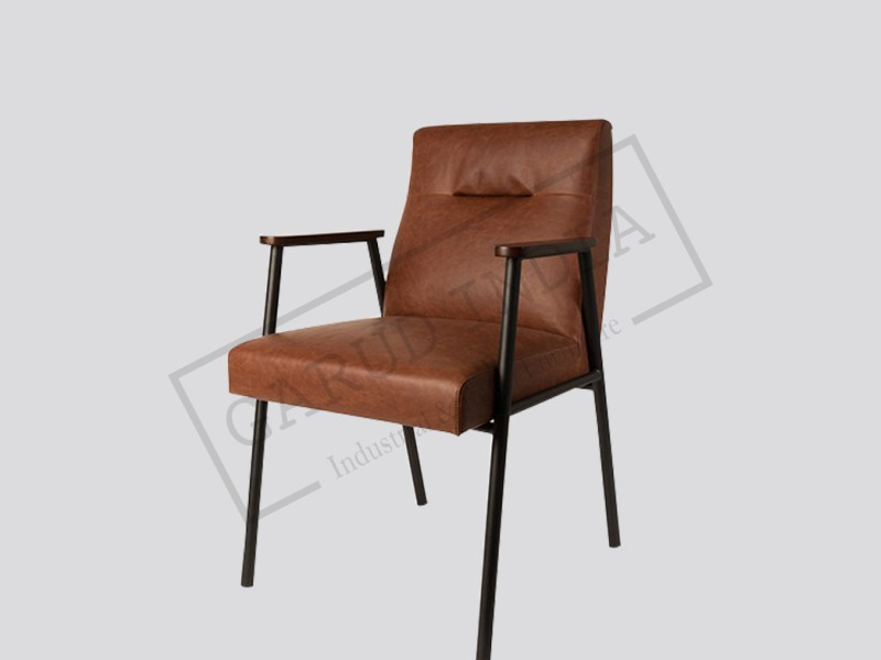 metal armchair tub chair big lots industrial leather and