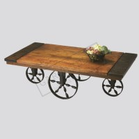 Industrial Vintage Factory Cart Coffee Table