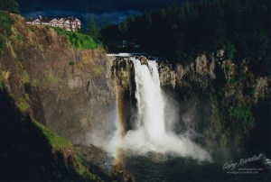 Snoqualmie Falls, Washington film photo