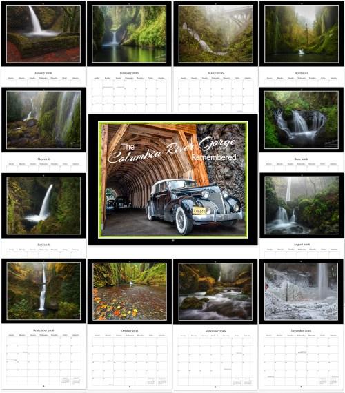 2018 Columbia River Gorge 12 Month Calendar   Gary Randall