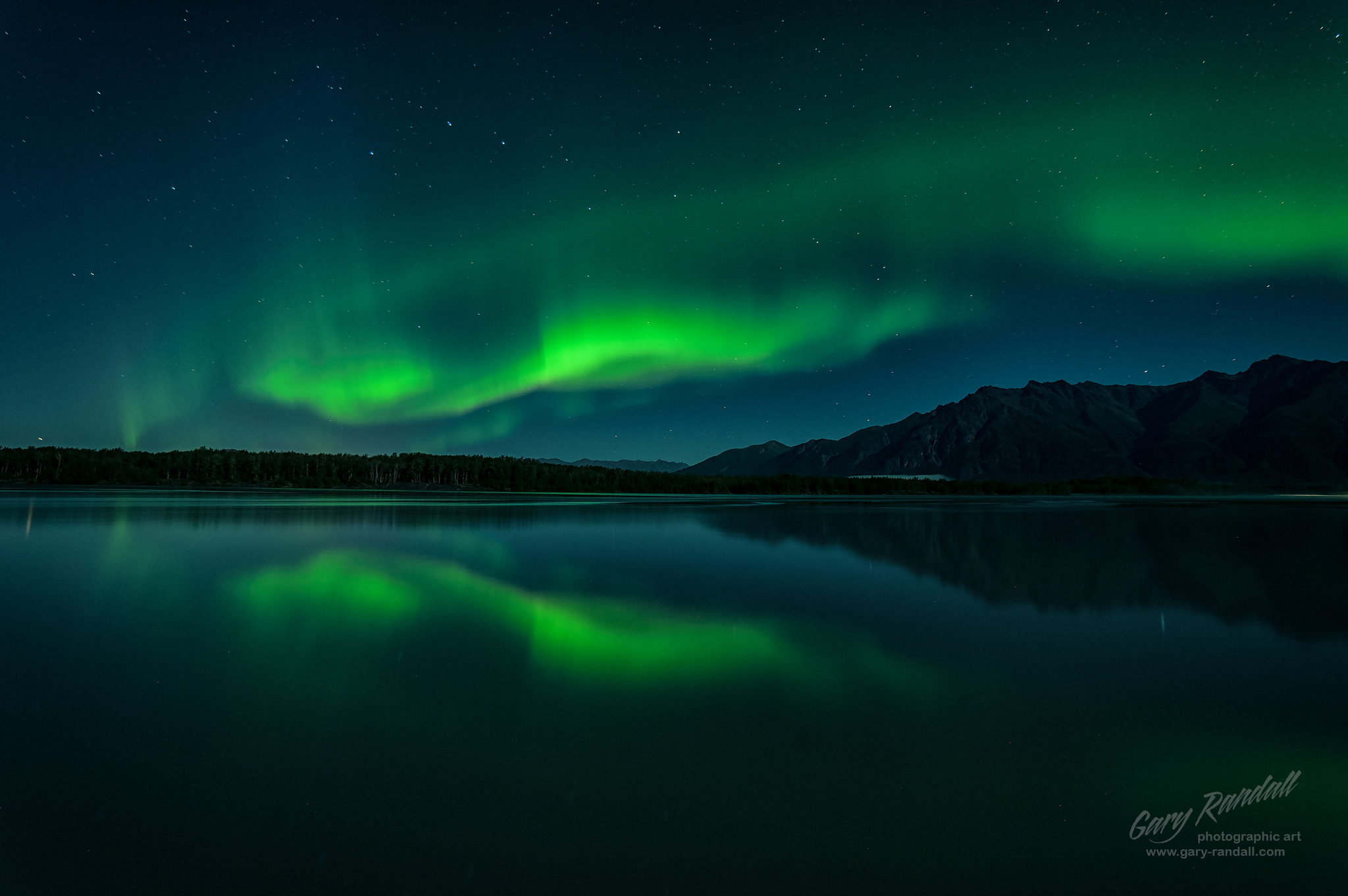 Aurora Borealis Over the Knik River