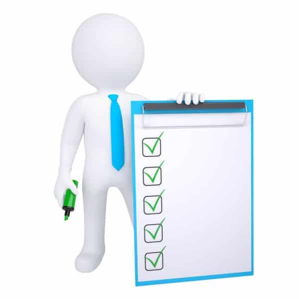 CRM seminar checklist