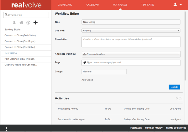 Realvolve Workflow Setup
