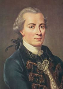 "Immanuel Kant (1724–1804) the transcendental idealist: ""All human knowledge begins with intuitions, proceeds from thence to concepts, and ends with ideas."""