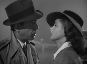 At the airport, Rick's new story empowers him to not only give up his ticket to freedom, but Ilsa as well.