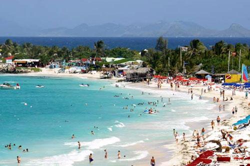 Saint Tropez Beach: The perfect destination spot for a worldview volcano.