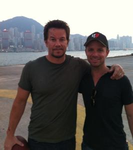 Mark Freiberger with Mark Wahlberg