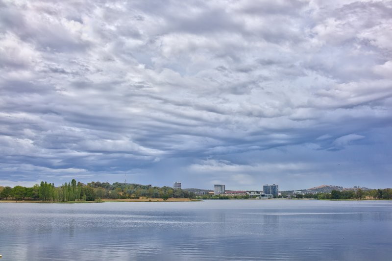Lake Ginninderra on a Saturday morning in February Gary Lum