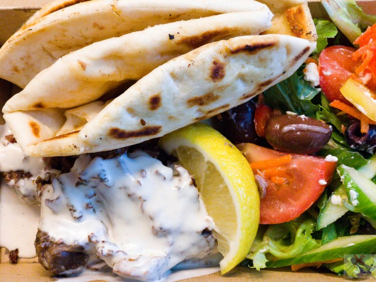 #payday S H I S H - P L A T E TIME Braised lamb, Greek pitta bread, Greek salad with a garlic tahini sauce on the lamb Gary Lum