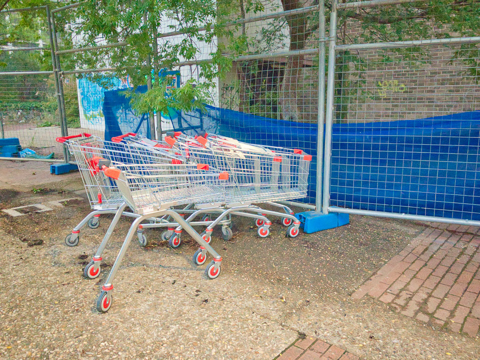 What is the collective noun for shopping trolleys? Gary Lum