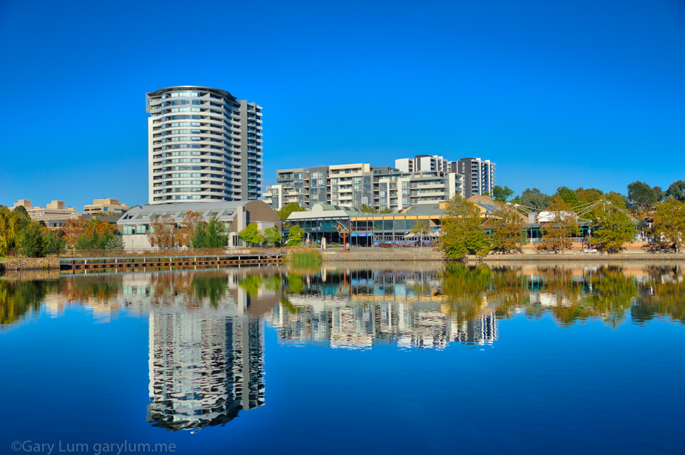 Reflections on Lake Ginninderra. HDR Processed. Gary Lum