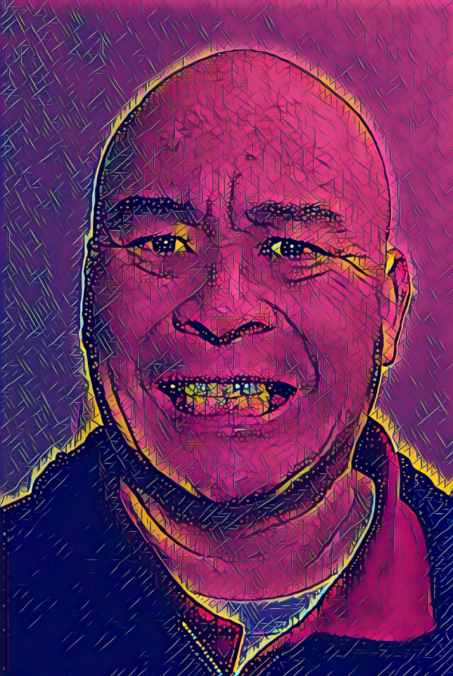 Prisma depiction of Gary Lum because of weird arse computer problems