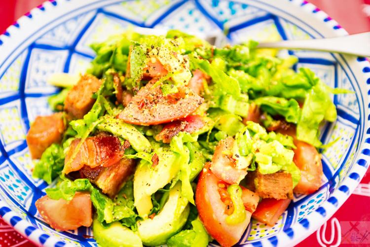 Jalapeño Spam and streaky bacon salad Gary Lum