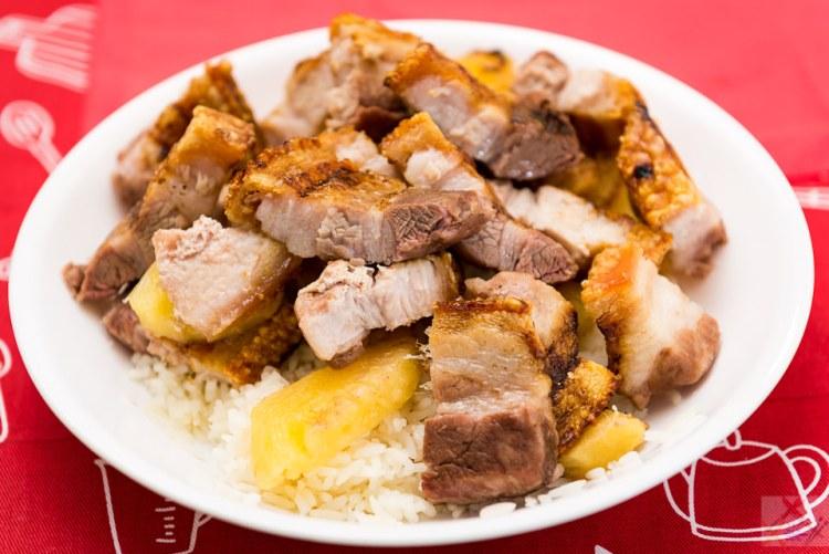 Pineapple pork with rice Gary Lum