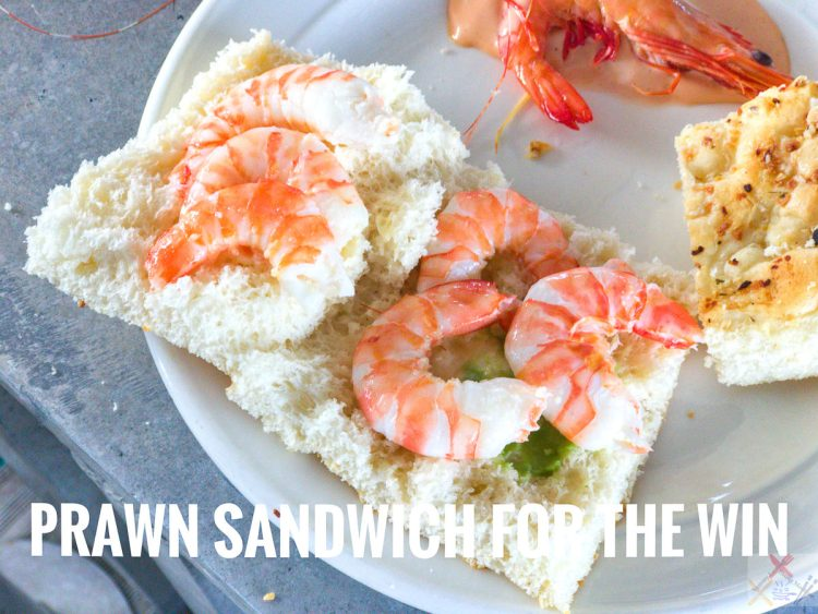 Prawn Sambo on Sunlover Reef Pontoon