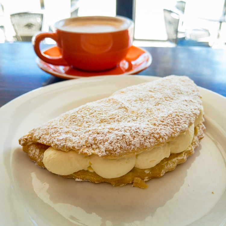 Apple turnover and coffee in Murchison Gary Lum