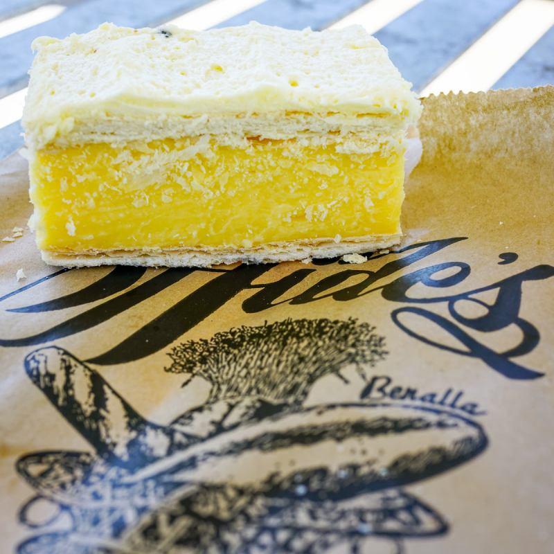 Vanilla slice from Hide's Bakery in Benalla Gary Lum