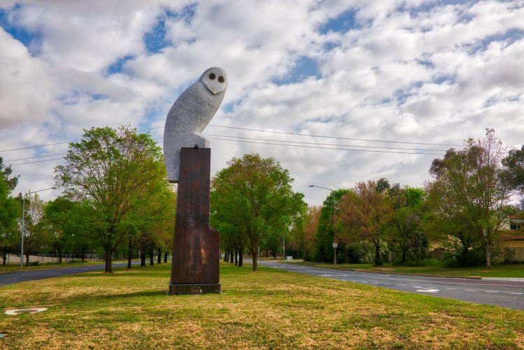 Owl statue, Belconnen Gary Lum