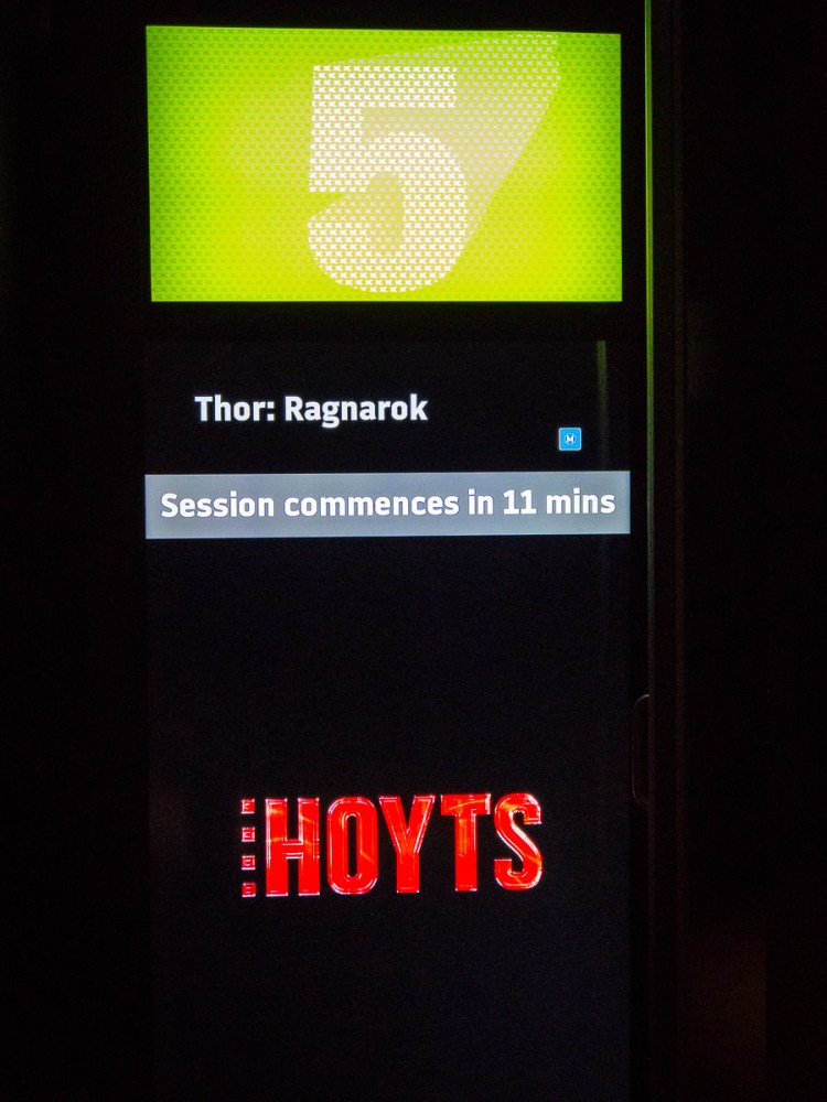 Hoyts Thor Cinema 5. What a great movie! Stalled weight loss. Gary Lum