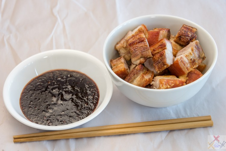 Pork rashers and Sichuan dipping sauce Gary Lum