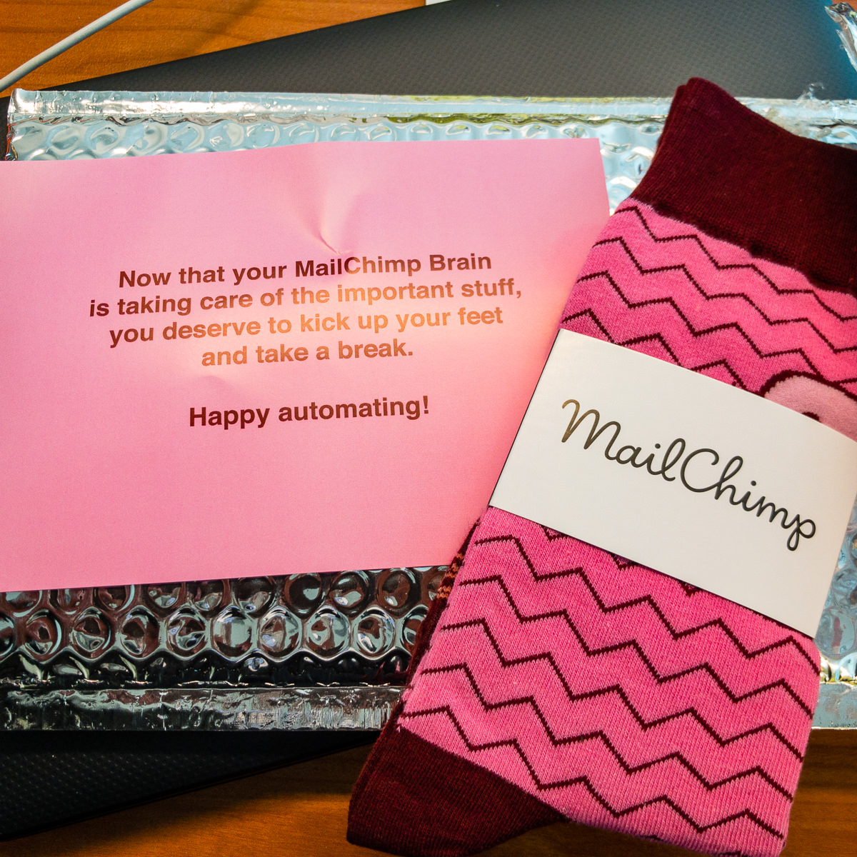 MailChimp socks Good news Bad news Gary Lum