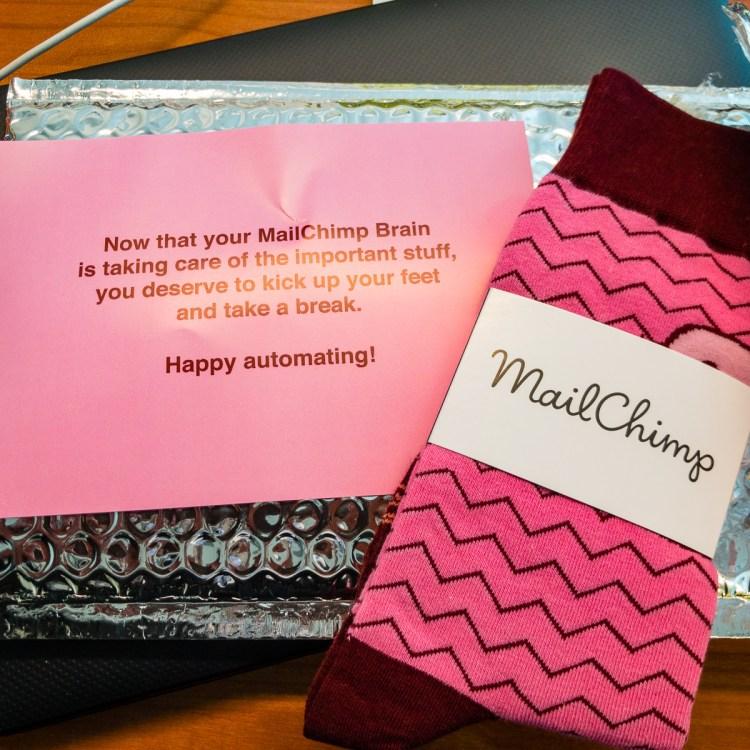 MailChimp socks Good news Bad news Gary Lum