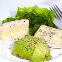 Saturday 2014-01-18 13.30.00 AEDT Smelly cheese and avocado with cos lettuce for lunch