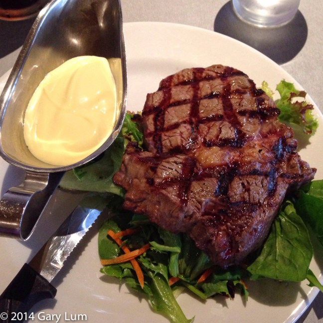 Friday2014-01-24 18.28.03-2AEDTScotch fillet steak with Hollandaise sauce and salad