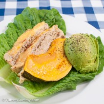 Saturday2014-02-15 18.01.01AEDTChicken meatloaf with avocado and pumpkin.