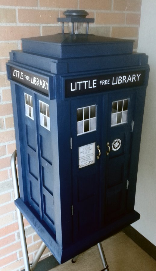 TARDIS Little Free Library  A TARDIS Builders Journal