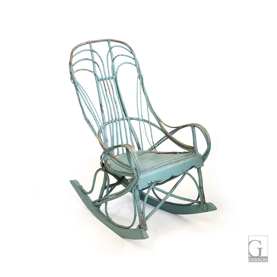 aqua adirondack chairs wood patio vintage turquoise bentwood rocking chair 21 75
