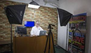 Gary Leland in his studio
