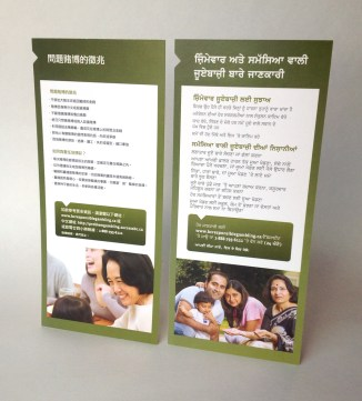 Rack Cards | Chinese – Punjabi Multilingual