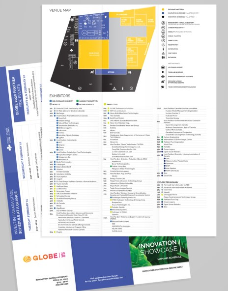 Globe 2020 Innovation Map and Schedule Fold-Up