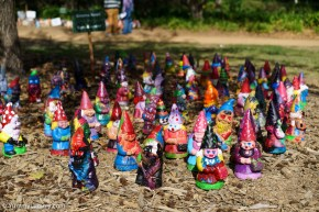 Gnomes at Floriade. Don't they look happy? | SONY ILCE-7S with FE 55mm F1.8 ZA at 55mm and f/4, 1/6400sec, ISO 400